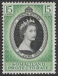 Somaliland Protectorate SG136 1953 Coronation 15c mounted mint
